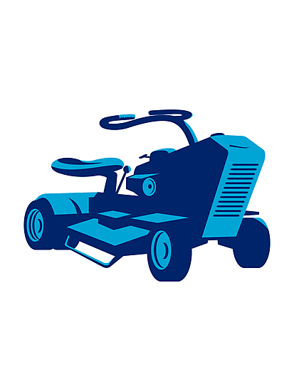 vintage ride on lawn mower retro by retrovectors