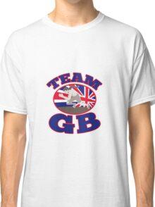 team gb runner track and field athlete british flag Classic T-Shirt