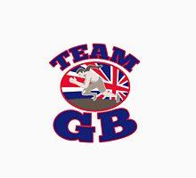 team gb runner track and field athlete british flag Unisex T-Shirt