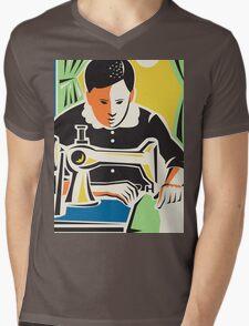 Seamstress Dressmaker Tailor Vintage Mens V-Neck T-Shirt