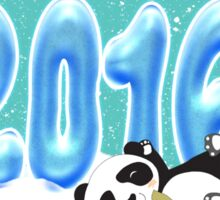 Chinese New Year, Year Of The Monkey 2016 With Panda Sticker