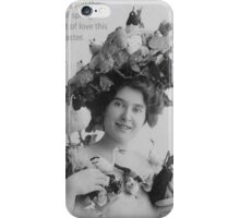 Easter Beauty and Love Vintage Model with Bonnet iPhone Case/Skin