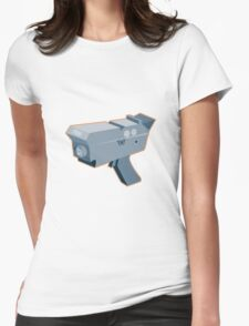 mobile speed camera radar gun retro Womens Fitted T-Shirt