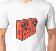 tape recorder reel cassette deck retro Unisex T-Shirt