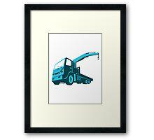 truck crane cartage hoist retro Framed Print