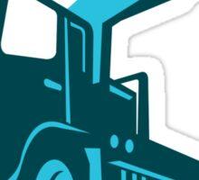 truck crane cartage hoist retro Sticker