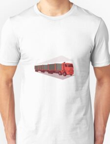logging truck and trailer retro style T-Shirt