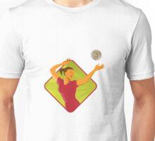 Volleyball Player Spike Ball Retro Unisex T-Shirt