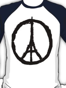 EIFFEL TOWER PEACE SIGN PRAY FOR PARIS T-Shirt