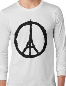 EIFFEL TOWER PEACE SIGN PRAY FOR PARIS Long Sleeve T-Shirt