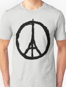 EIFFEL TOWER PEACE SIGN PRAY FOR PARIS Unisex T-Shirt