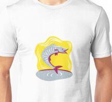 Wahoo Fish Jumping Retro Unisex T-Shirt