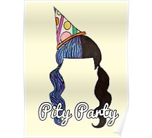 """""""Pity Party"""" Hair Design Poster"""