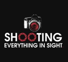 Shooting Everything In Sight Hoodie by Brian Leadingham