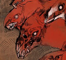 Nuclear Dog Rats by springly