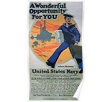 A wonderful opportunity for you United States Navy 002 Poster
