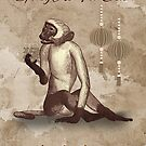 Chinese New Year,Sketch And Watercolor Monkeys, Chinese New Year by Moonlake