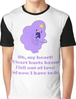 Lumpy Space Princess - Oh, my heart! Graphic T-Shirt