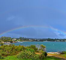 Double Rainbow over Coffin Bay - best looked at enlarged by Ian Berry