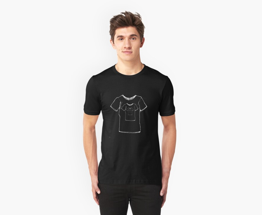 Escher's shirt in a shirt in a shirt in a.... - white by springly