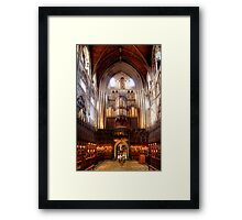 The Choir, Ripon Cathedral Framed Print