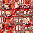 Textile Collage 1 by Richard  Tuvey
