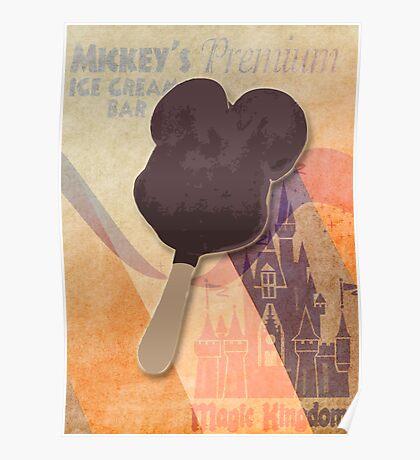 Mickey's Premium Ice Cream  Bar Poster