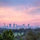 Pastel Dawn over Melbourne by Allan Savage