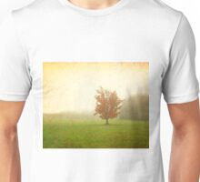 Maple Tree in Fog with Fall Colors  Unisex T-Shirt