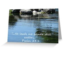 """Psalm 23:2""  by Carter L. Shepard Greeting Card"