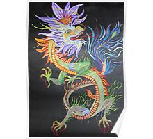 Bright and Vivid Chinese Fire Dragon Poster