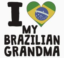 I Heart My Brazilian Grandma Kids Tee