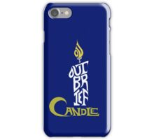 Shakespeare Shirts - Brief Candle (Colour) iPhone Case/Skin