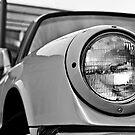 Vintage Porsche 930 Wink Black and White by Daniel  Oyvetsky