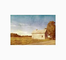 Old Gray Barn In The Country With Blue Sky Unisex T-Shirt