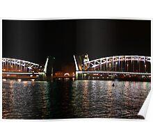 drawbridge at night  Poster