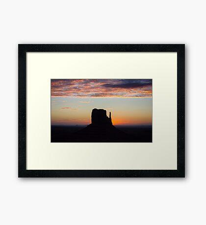 West Mitten Sunrise Framed Print
