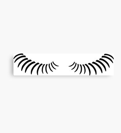 Eye lashes looking down. Canvas Print