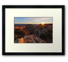 Sunset at Cape Royal Framed Print