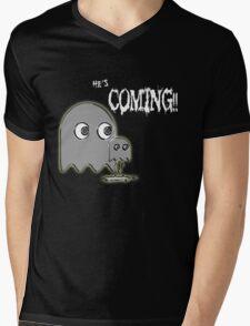 He's Coming...... Mens V-Neck T-Shirt