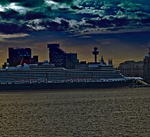 Cunard Queen Elizabeth by therightprofile