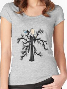 Slender Man Women's Fitted Scoop T-Shirt