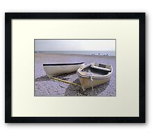 Boats at rest   ICE VERSION Framed Print