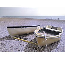 Boats at rest   ICE VERSION Photographic Print