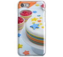 Colourful Birthday Cake Table Setting iPhone Case/Skin