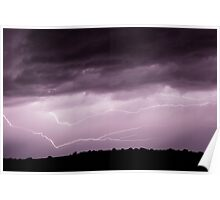 Lightning Across the Sky Poster