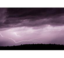 Lightning Across the Sky Photographic Print