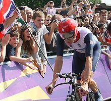 Bradley Wiggins - Gold in Mens Individual Time Trial - London 2012 by Colin  Williams Photography