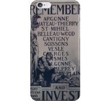 Rememberand invest Victory Liberty Loan Womans Liberty Loan Committee 002 iPhone Case/Skin