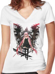Gasai Yuno Anime Future Desolation Anime T-shirt Women's Fitted V-Neck T-Shirt